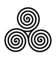 breton and celtic original spiral triskel vector image vector image