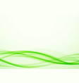 bright modernistic green eco speed swoosh wave vector image vector image