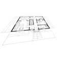 building plans vector image vector image