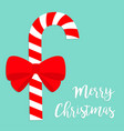 candy cane merry christmas cute cartoon red white vector image