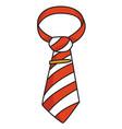 cartoon image of tie icon necktie symbol vector image