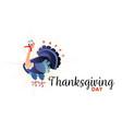 cartoon thanksgiving turkey character autumn vector image vector image