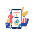 charity and donation - colorful flat design style vector image