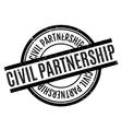 Civil Partnership rubber stamp vector image