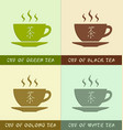 cups different types teas vector image