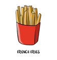 drawing french fries vector image