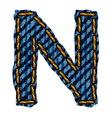 Farmerke tekstura slovo N vector image vector image