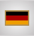 flag of germany in a golden frame vector image vector image