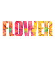 Flower sign vector image vector image