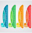 four elements of infographic design vector image vector image