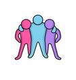 friendly people social icon vector image