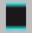 geometric halftone pattern brochure template vector image vector image
