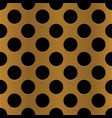 golden perforated metal seamless background vector image