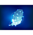 Grenada country map polygonal with spot lights vector image