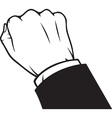 Hand Knocking Icon vector image vector image