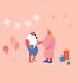 happy people celebration soon child birthday baby vector image