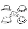 hats engraving vector image