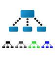 hierarchy flat gradient icon vector image vector image