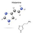 Histamine molecule vector image vector image
