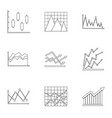 information board icons set outline style vector image vector image