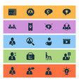 job icons set with different ideas multitasking vector image