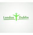 London - Dublin vector image vector image