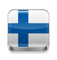 Metal icon of Finland vector image