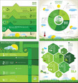 modern ecology design infographic collection vector image vector image
