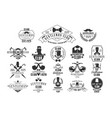 monochrome set of stylish emblems for vector image vector image