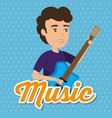 musician man in concert vector image vector image