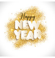 new year text in paper style background vector image