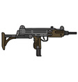 Old small automatic gun vector image vector image
