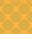 orange fruit seamless line art style vector image