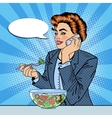 Pop Art Business Woman Talking on the Phone vector image vector image