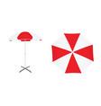 red and white sun umbrella vector image vector image
