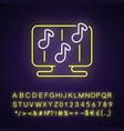 rhythm games neon light icon vector image