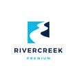 river creek road logo icon vector image