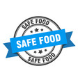 safe food label safe food blue band sign safe food vector image vector image