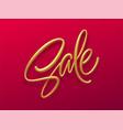 sale golden lettering shopping promotion design vector image vector image