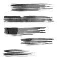 set watercolor brush strokes vector image