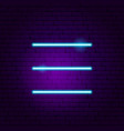 settings neon sign vector image vector image