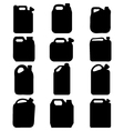 silhouettes of canisters vector image vector image