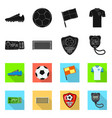 soccer and gear icon vector image vector image