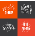 Summer Handdrawn Lettering vector image vector image