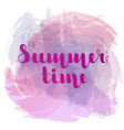summer time lettering on background imitation vector image vector image