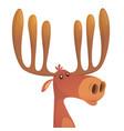 Tiny cute cartoon moose