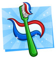 toothbrush cartoon vector image