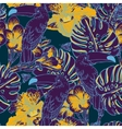 Tropical floral seamless background with Toucan vector image vector image