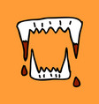 vampires teeth icon isolated art vector image vector image