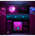 Web site template design Disco background vector image vector image